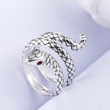 Anillos de dedos de mujer Animal serpiente dulce 100% Plata de Ley 925 promoción joyería mujer Regalo de Cumpleaños envío directo No se desvanece