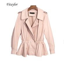 Leather Coat Soft Women