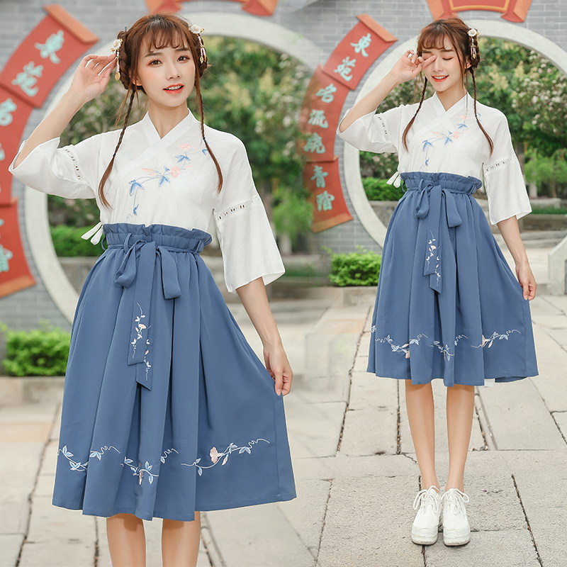 Hanfu Ancient Chinese Costume Dress Traditionl Chinese Dance Clothing For Women Fairy Design Style Daily Festival Outfits DN4146