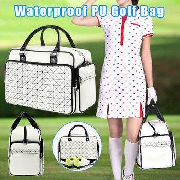 Golf Clothes Bag Waterproof Clothing Bag PU Large Capacity Independent Shoe Bags 2-way zipper FOU99