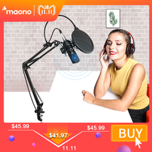 MAONO AU A03 Professional Studio Microphone Kit Condenser Cardioid Microfono Podcast Mic for Gaming Karaoke YouTube Recording