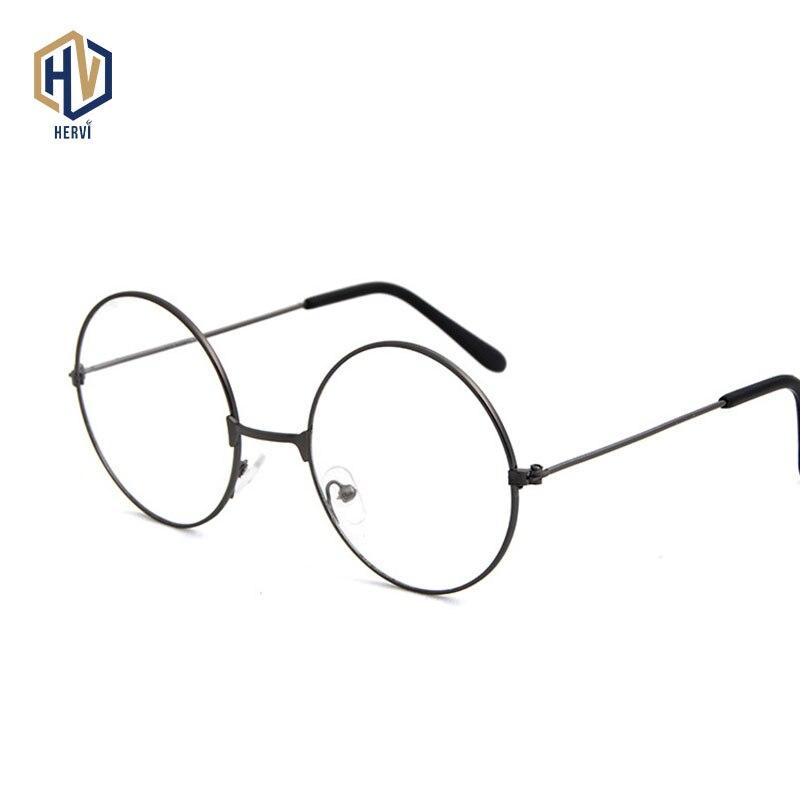 Retro Glasses Frame Fashion Men  Metal Round Frame Eyeglasses Optical Sepectacles Golden Multicolor Wild Women Eyewear
