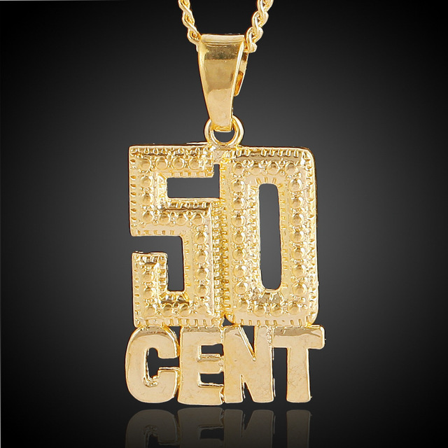 50 Cent Choker Pendent Necklace
