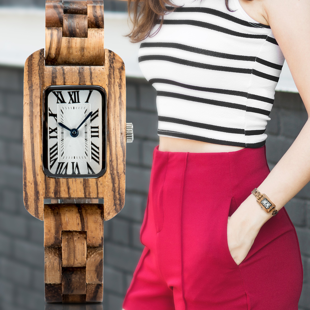 BOBO BIRD Wood Watches For Women Bamboo Zebra часы женские Uhren Damen Quartz Ladies FaWatches Zegarek Damski In Wood Box