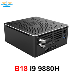 Juegos de Mini PC i9 9880H 8 Core 16 hilos 2 * DDR4 2666MHz 2 * M.2 Nuc Windows 10 Pro Linux de escritorio AC Wifi DP HDMI