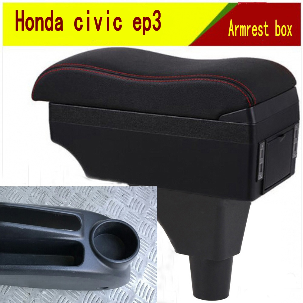 For honda civic ep3 armrest box central Store Aerio content box with cup holder ashtray decoration products With USB interfac Armrests     - title=