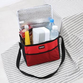 цена на Insulated Lunch Bag Box Cooler Oxford Insulation Food Picnic Handbag Shoulder Bags for Men Women