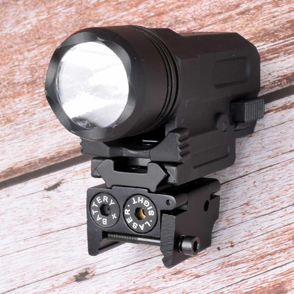Red Dot Laser Sight Tactical Picatinny Weaver Rail Mount 20mm Pistol Gun Compact  Torch Light LED Rifle Glock Gun Flash Light-2