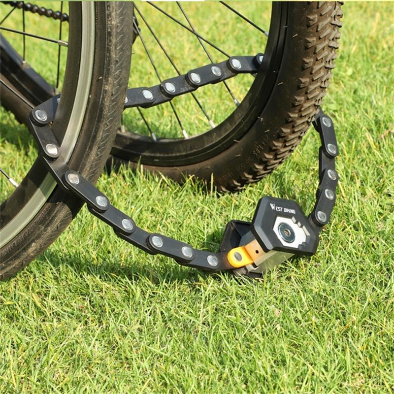 WEST vélo pliable serrure de vélo vtt route vélo hambourg serrure haute sécurité Anti-vol Scooter électrique pliant e-bike chaîne serrure