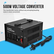 US Plug 500W 220V to 110V Step Up & Down Voltage Converter Transformer inverter transformer for travel Domestic Delivery new ac 110v to 220 v 500w step up voltage converter transformer converts