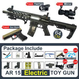 Ball-Gun AR15 Airsoft-Air-Guns Rifle Water-Gel Games Shooting Children's Safe And Fun