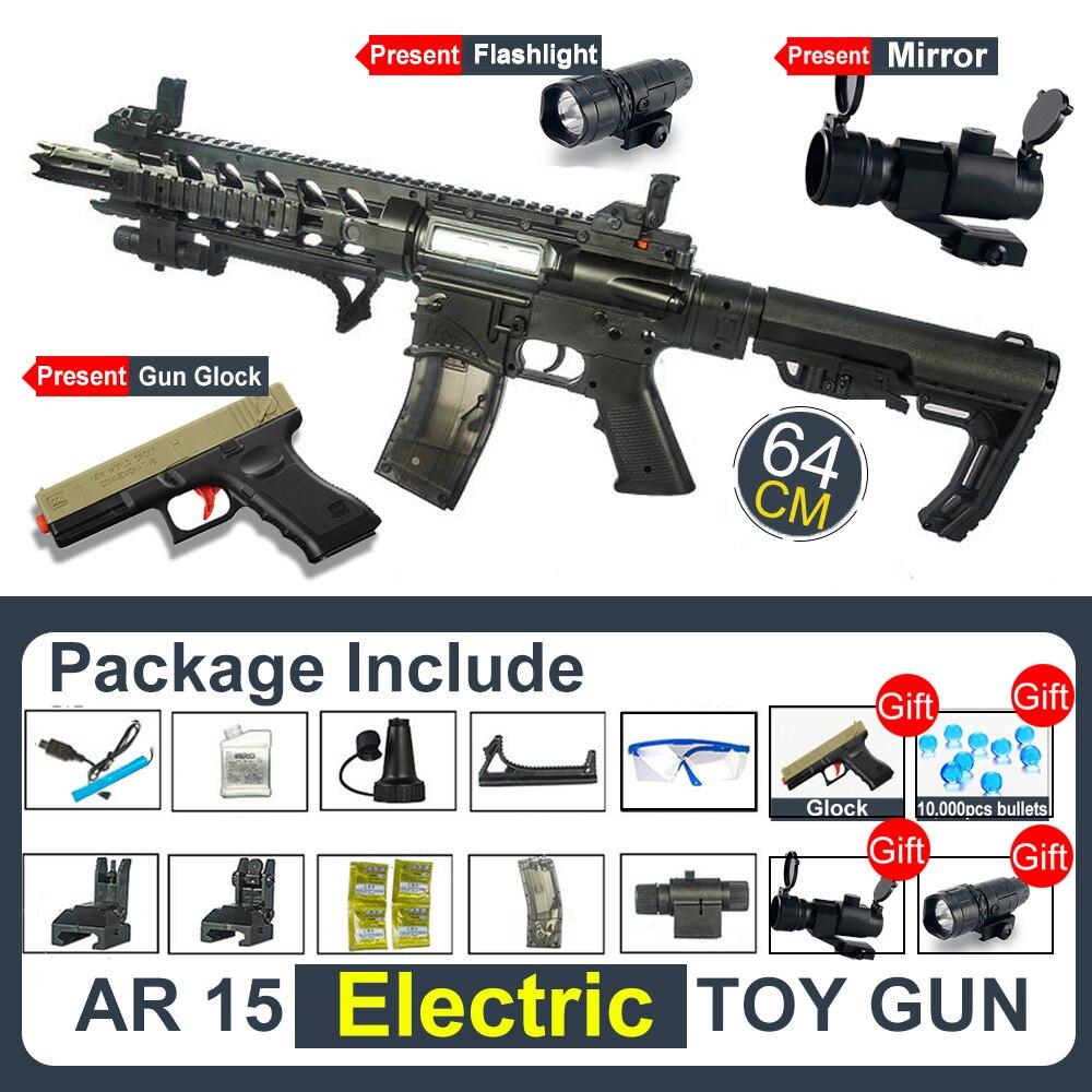 Children's Gift Toy AR15 Water Gel Ball Gun Rifle CS Shooting Games Electric Gun Airsoft Air Guns Safe And Fun Rifle For Boys