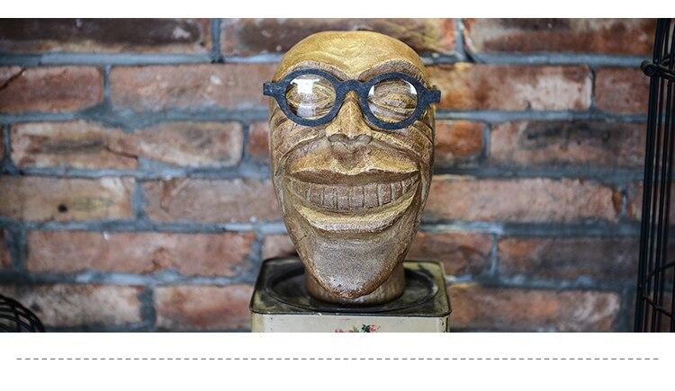 Mode Stil Neue Lustige kopf modell gläser display Mannequin Kopf Dummy Heißer Verkauf - 2