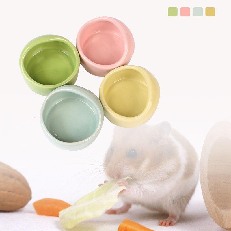 Small Pet Ceramic Bowl Small Pet Hamster Rat Chinchilla Rabbit Food Bowl Pet Food Water Bowl Pet Pet Feeding Supplies