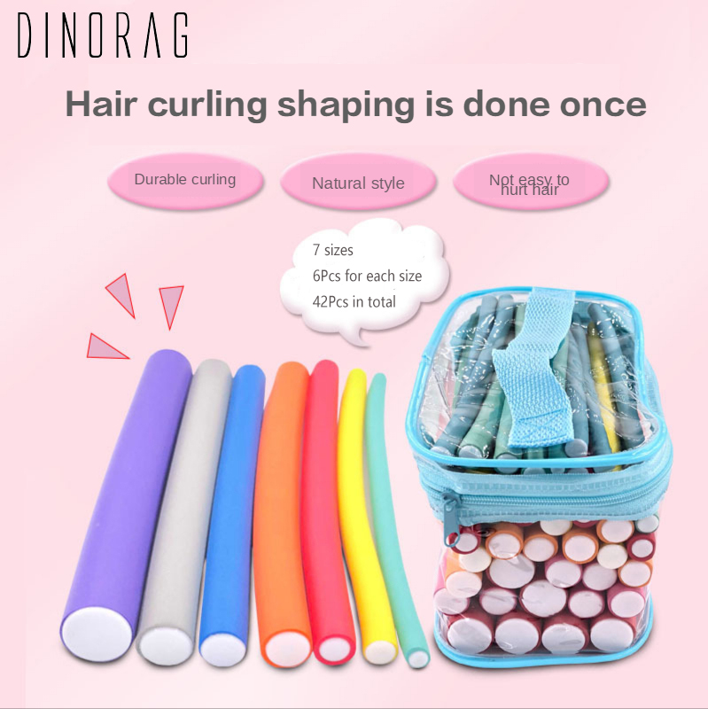 Dinorag 42 pcs/Lot Soft Hair Curler Roller Curl Hair Bendy Rollers DIY Magic Rollers Sponge Hair Curling Tool Styling