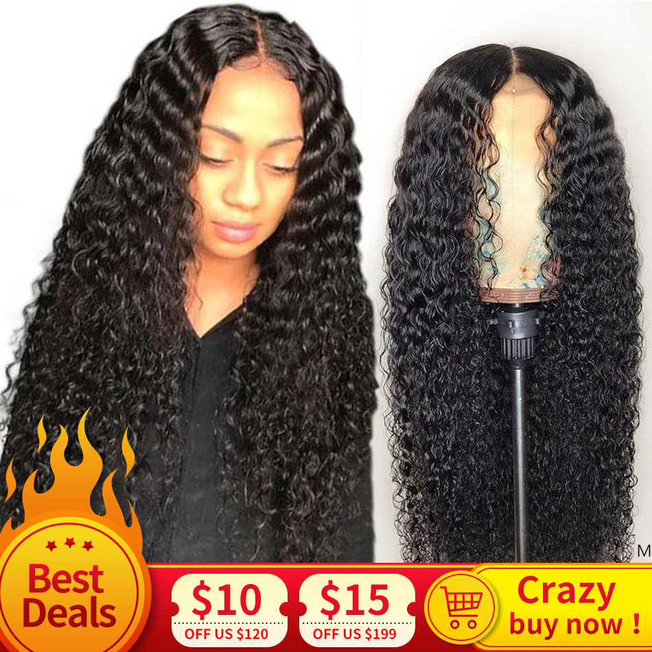 13x4 Deep Curly Lace Front Human Hair Wigs 150% Density Indian Lace Frontal Wig With Baby Hair For Women Glueless Natural Color