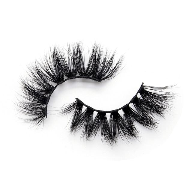 15mm 3D Mink Lashes Wholesale Bulk Natural Think Luxury Fluffy Eyelashes 5