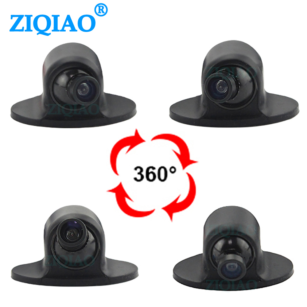 ZIQIAO HD Car Reverse Parking Camera Night Vision 360     Rotating Side View Rear View Front View Camera HS019