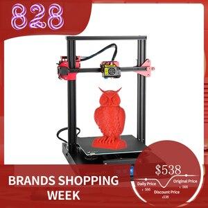 Image 1 - 3D принтер CREALITY, Модернизированный комплект самонивелирующихся 3D принтеров для самостоятельной сборки, 300*300*400 мм, большой размер печати, ЖК экран