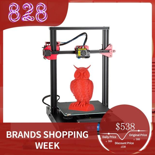 3D принтер CREALITY, Модернизированный комплект самонивелирующихся 3D принтеров для самостоятельной сборки, 300*300*400 мм, большой размер печати, ЖК экран