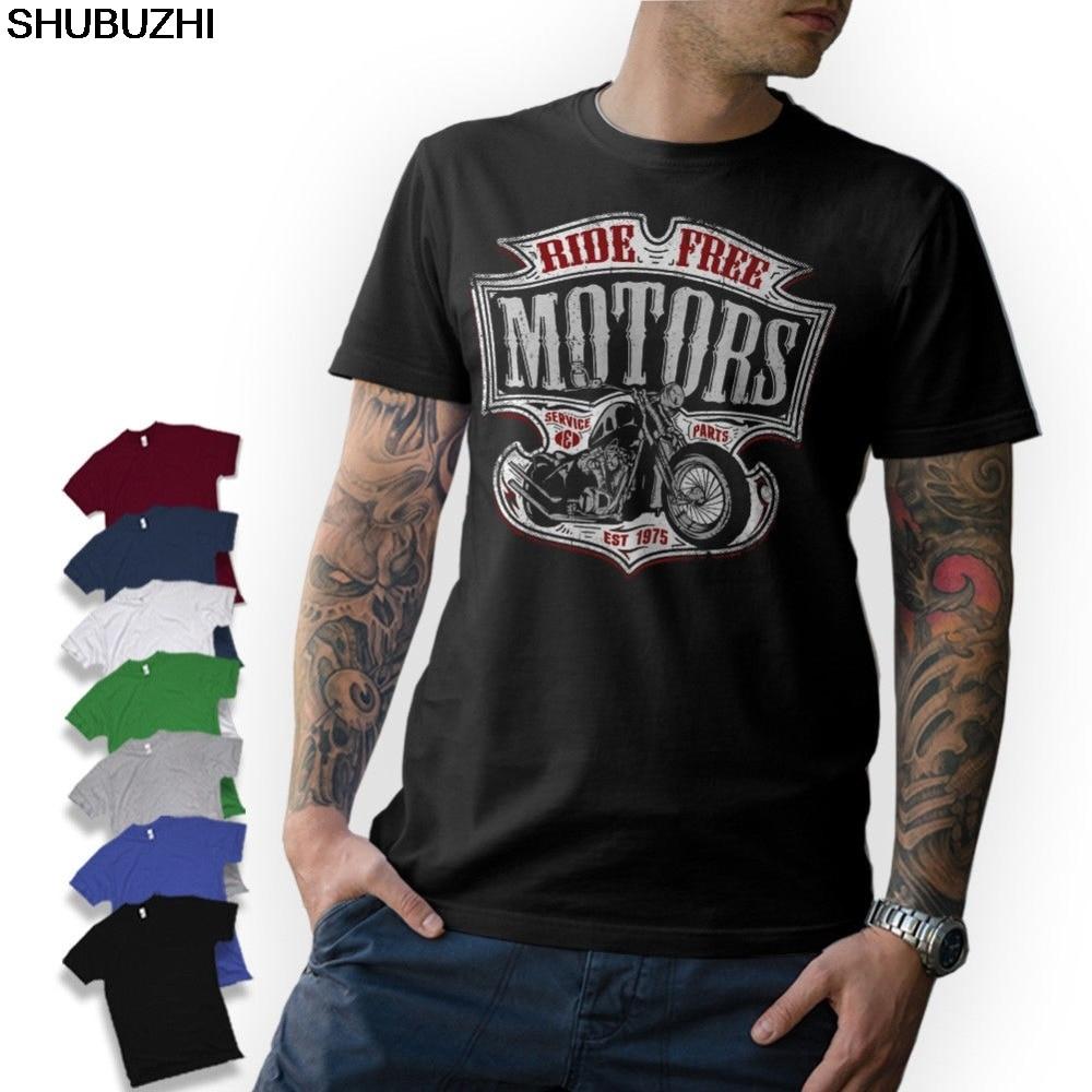 Fashion Brand Clothing O-Neck Teenage T-Shirt T-Shirt - Motard - Moto Motorcycle Chopper Bobber Old School Cheap Tees