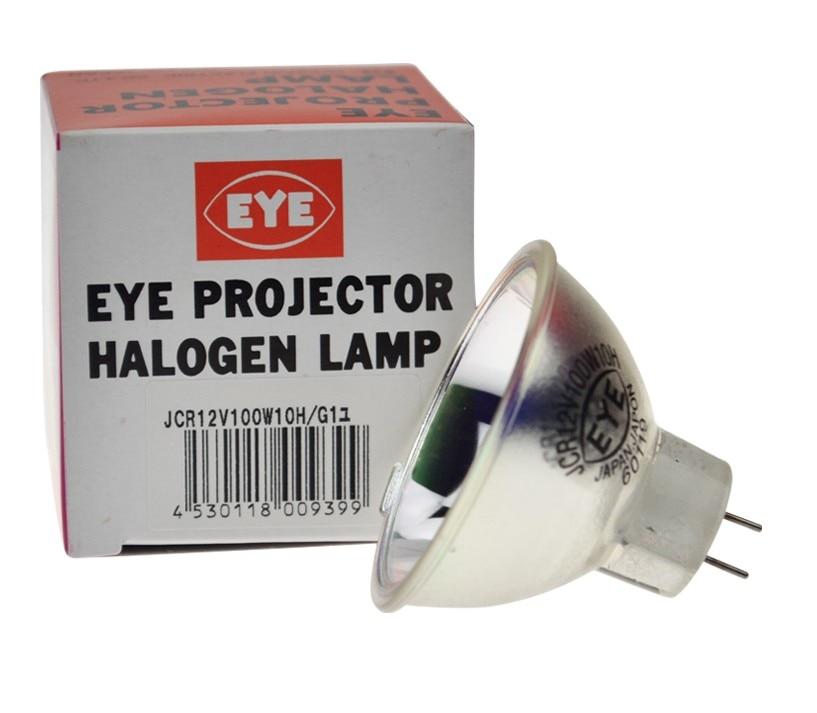 olho jcr 12v100w10h 12v 100w lampada do halogenio do projetor jcr12v100w10h 60119 aoi smt microscopio jcr12v100w10h