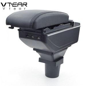 Image 1 - Vtear עבור טויוטה אקווה פריוס C משענת עור ABS זרוע שאר usb אביזרי להגן אחסון תיבת חלקי פנים רכב סטיילינג אוטומטי