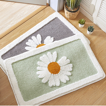 Simple Flower Pattern Anti-Skid Floor Carpet Home Doorway Soft Water Absorbent Bath Mat Quality Bathroom Mat Hallway Rug 1pcs