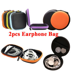 2pcs Colorful SD Hold Case Storage Carrying Hard Bag Box Case for Earphone Headphone Earbuds memory Card Caja de storage bag