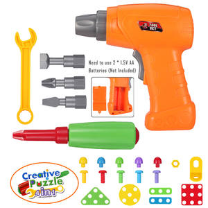 Toys Game-Toy Drill Disassembly-Accessories Screw Educational-Toys Puzzle Mosaic Creative