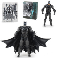 16cm Anime Justice League Batman Battle Ver Figurine Dolls Toys PVC Movable Joint Action Figure Decoration Model Toy Gift