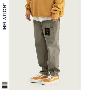 Image 3 - INFLATION Loose Straight Men Cargo Pants 2020 Autumn Streetwear Functional Pocket Men Pants Hip Hop Solid Men Casual Pant 93341W