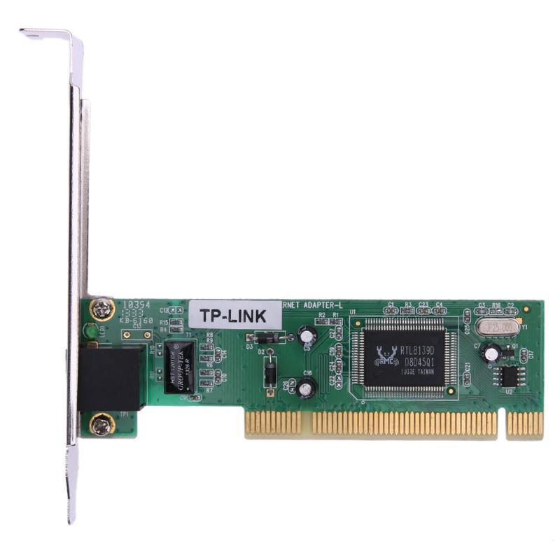 PCI Realtek RTL8139D 10/100M 10/100Mbps RJ45 Ethernet Network Lan Card Adap