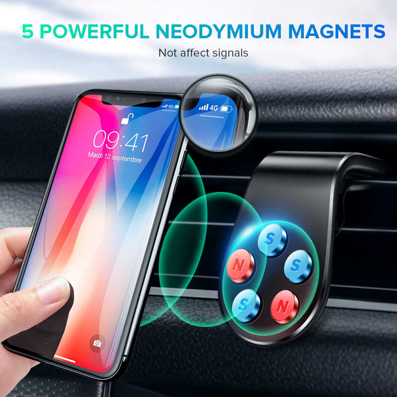 Getihu Logam Magnetik Mobil Ponsel Pemegang Mini Udara Vent Klip Mount Magnet Mobile Stand untuk iPhone X Max Xiaomi Smartphone di Dalam Mobil