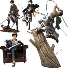 Anime ataque em titan artfx j levi renovação pvc figura de ação brinquedos japão anime figura estátua modelo brinquedos collectible boneca presente