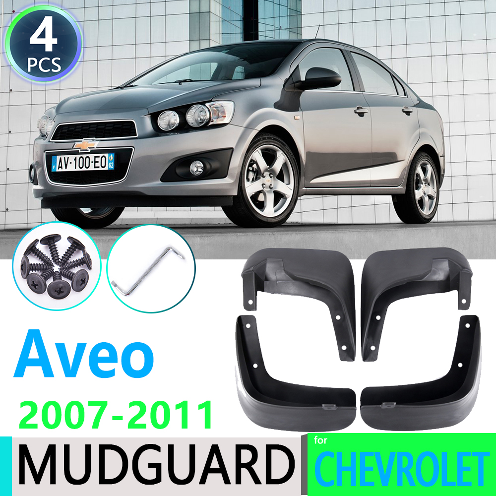 for Chevrolet <font><b>Aveo</b></font> Sedan Saloon <font><b>T250</b></font> 2007 2008 2009 2010 2011 Car Fender Mudguard Mud Flaps Guard Splash Flap Car Accessories image