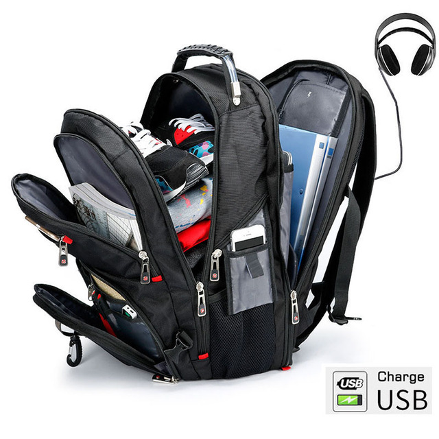 MAGIC UNION Men's Travel Bags Multifunction Rucksack Waterproof Oxford Laptop Backpack for Teenager Anti-theft Camping Backpack 1