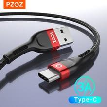 PZOZ Cable USB tipo C cargador de cable de datos de carga rápida usb c para Samsung A51 s10 s9 plus s8 note 9 10 plus Cable tipo-C xiaomi mi 10 9 a3 redmi note k30 pro redmi note 9s 7 8 pro 8t huawei