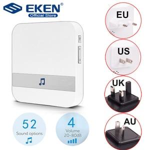 Image 1 - AC 110 220V 스마트 실내 초인종 차임 무선 WiFi 도어 벨 미국 EU 영국 AU 플러그 XSH app For EKEN V5 V6 V7 M3