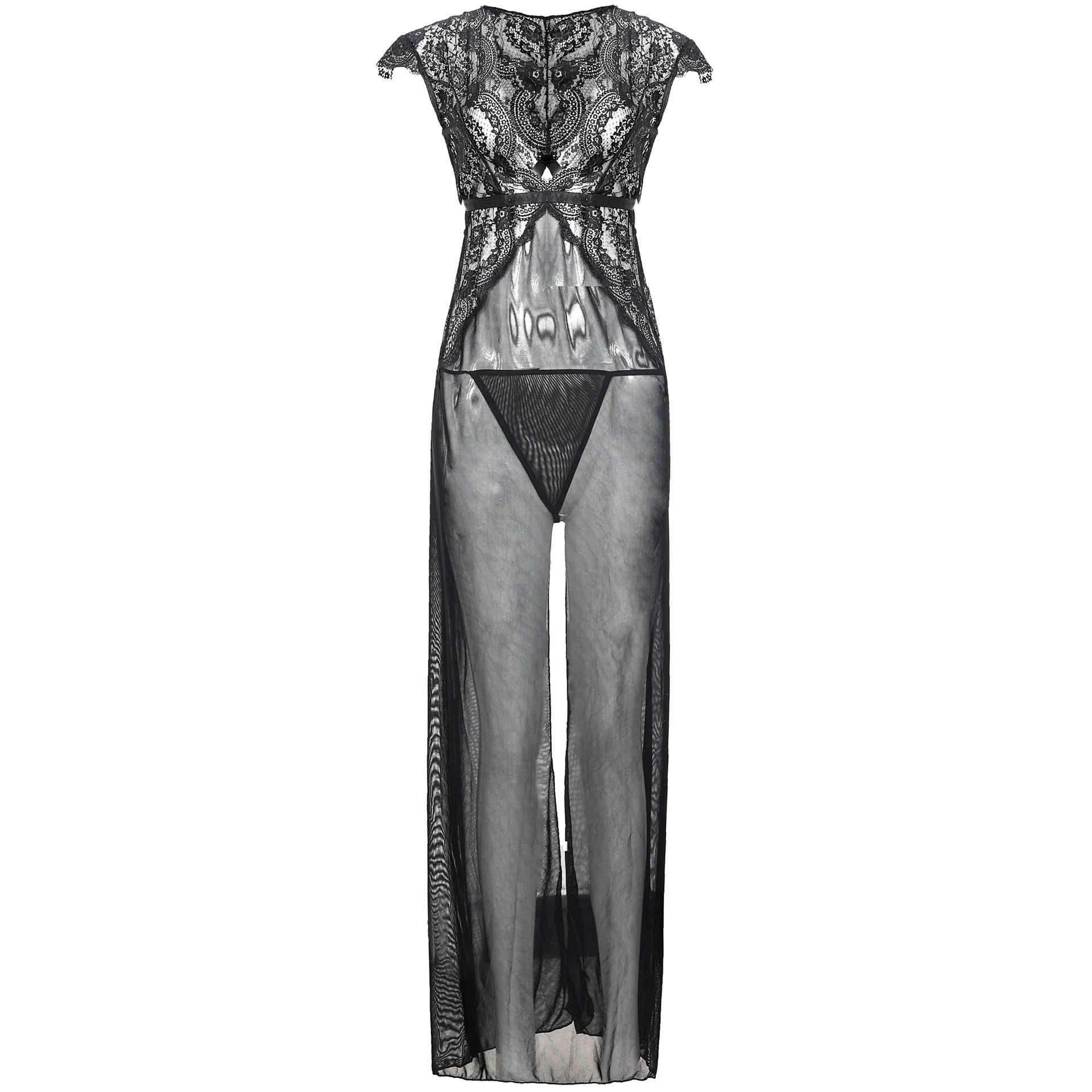 Volwassen sexy Belang pyjama Lingerie voor dames Sexy see through jurk