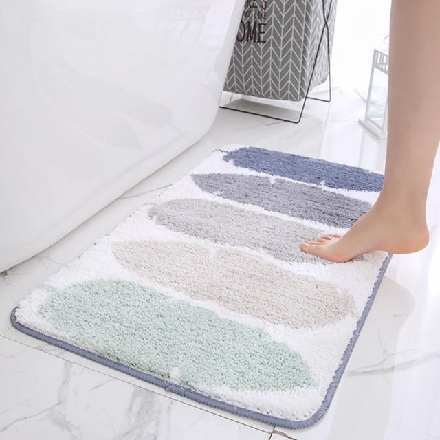 Bath Mat for Bathroom, Anti Slip Bathroom Rug In The Toilet,Absorbent Soft Carpet for Bedroom Sofa alfombra bano