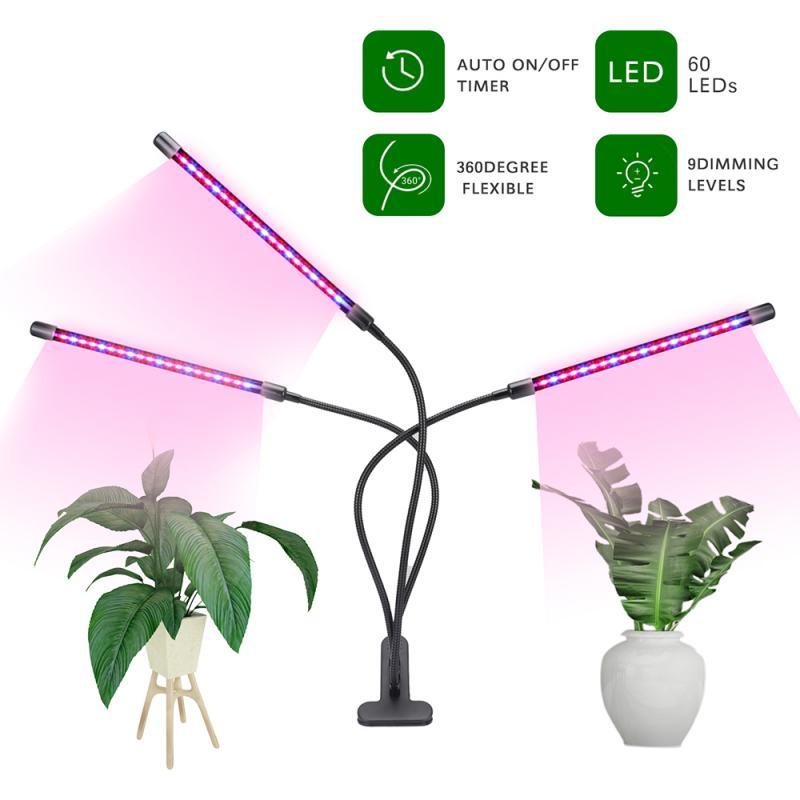 Светодиодный светильник с 4 головками для выращивания растений, полный спектр USB, фитолампы для комнатных растений, светильник для роста растений, регулируемый угол|Фитолампы|   | АлиЭкспресс