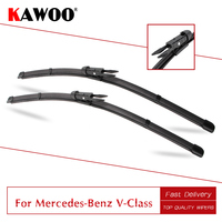 KAWOO Para Mercedes-Benz Classe V Vito W639/W447 Limpadores de Carro Blades 2006 2007 2008 2009 2010 2011 2012 2013 2014 2015 2016 2017