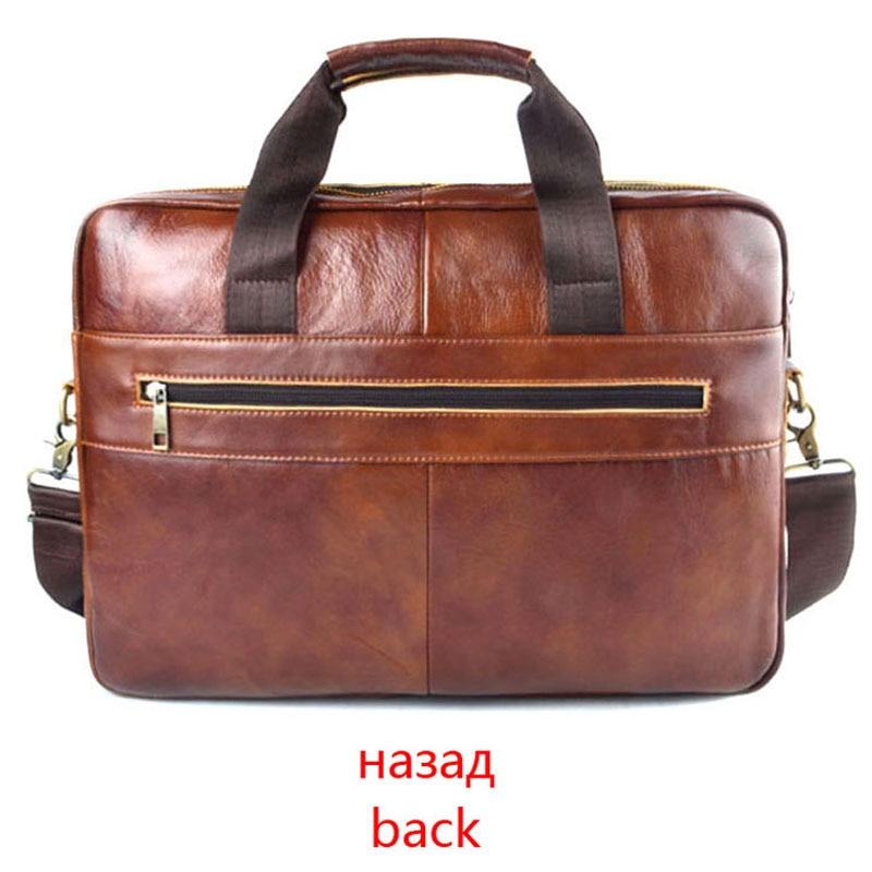 AETOO de cuero genuino bolso de cuero real para portátil bolsos de negocios de cuero de vaca para hombre Bolso bandolera de viaje para hombre maletín de cuero marrón - 2