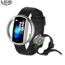 LIGE Smart Watch Sport Fitness Tracker Heart Rate Blood Pressure IP67 Smart band Pedometer IOS Android Smart Bracelet Wristband jimate id115hr plus heart rate smart wristband gps sport smartband pedometer fitness tracker bracelet band watch for ios android