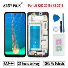 LG Q60 2019 X525ZA X525BAW X525HA X525ZAW LCD 디스플레이 터치 스크린 디지타이저 어셈블리 LG X6 2019 LMX625N X625N X525 LCD