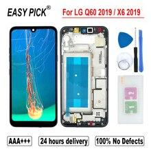Lg Q60 2019 X525ZA X525BAW X525HA X525ZAW lcdディスプレイタッチスクリーンデジタイザlg X6 2019 LMX625N X625N x525液晶