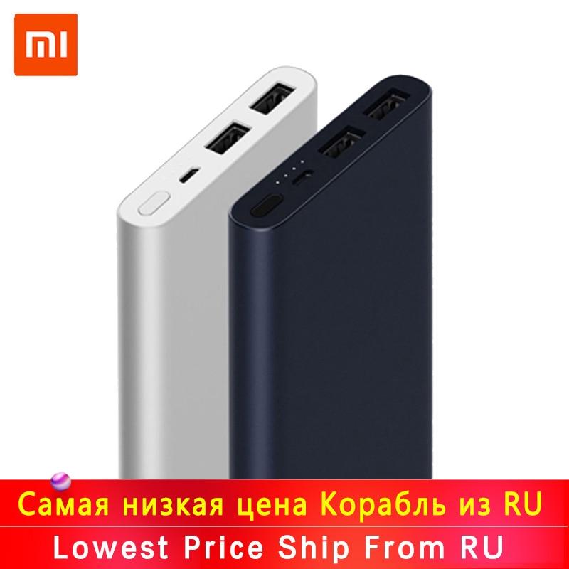 Neue Xiao mi mi Power Bank 2s 10000 mAh Rot mi Power Bank 20000mAh Dual USB Port Schnell ladung Power Ultra-dünne Externe Batterie