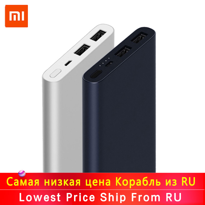 New Xiaomi Mi Power Bank 2s 10000 MAh Redmi Power Bank 20000mAh Dual USB Port Quick Charge Powerbank Ultra-thin External Battery