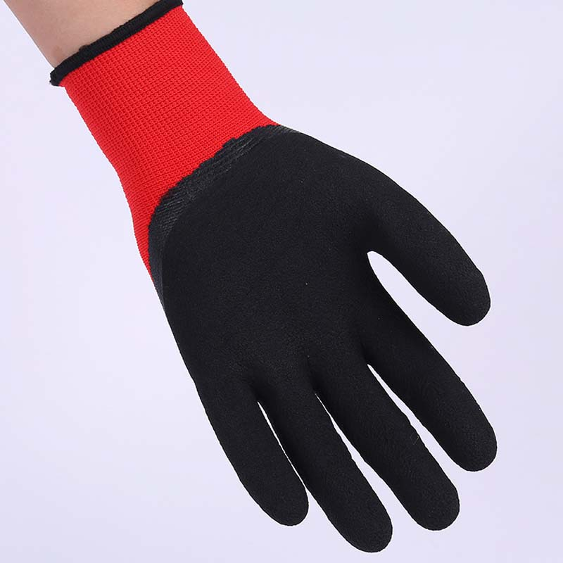 Pu Coated Palm Gloves Black Antistatic Dip Coated Nylon Gloves